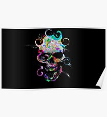 Painted Skull Poster