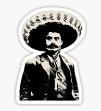 Emiliano Zapata - bichrome black / creme-white Sticker