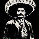 Emiliano Zapata - bichrome black / creme-white by Bela-Manson