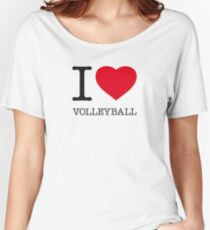 I ♥ VOLLEYBALL Women's Relaxed Fit T-Shirt