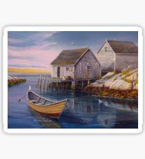 Peggys Cove Sunset Sticker