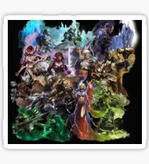 Guild Wars 2 Professions and  Heart of Thorns Specializations Sticker