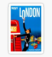 """VISIT LONDON"" Vintage Travel Advertising Print Sticker"