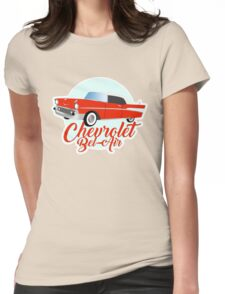 Chevy Chevrolet Muscle Car Womens Fitted T-Shirt