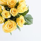 Yellow roses from above by Natalie Board