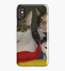 Three meows in a row iPhone Case