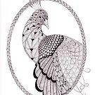 Tangled Peacock by Christianne Gerstner