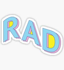 Rad, Man Sticker