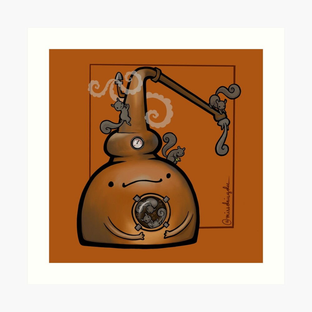 Copper Pot Still :: Carnivorous Foods Art Print