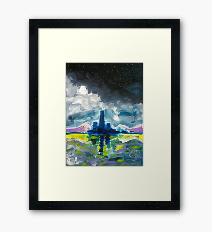 Majestic Midnight Framed Print