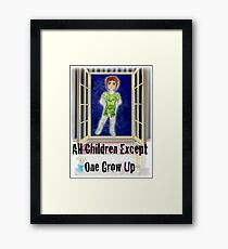 Peter Pan at the window Framed Print