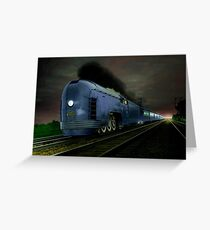 Blue Express Greeting Card