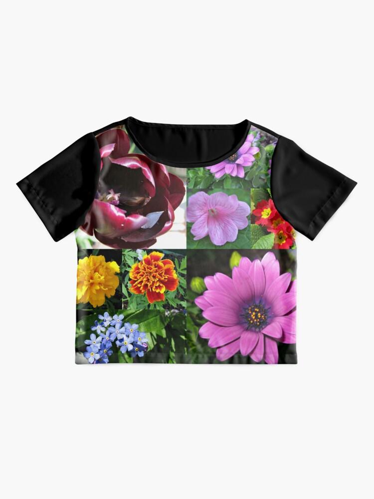 Alternative Ansicht von So lange, Frühling! Hallo, Sommer! Sonnenschein-Blumen-Collagen Chiffon Top