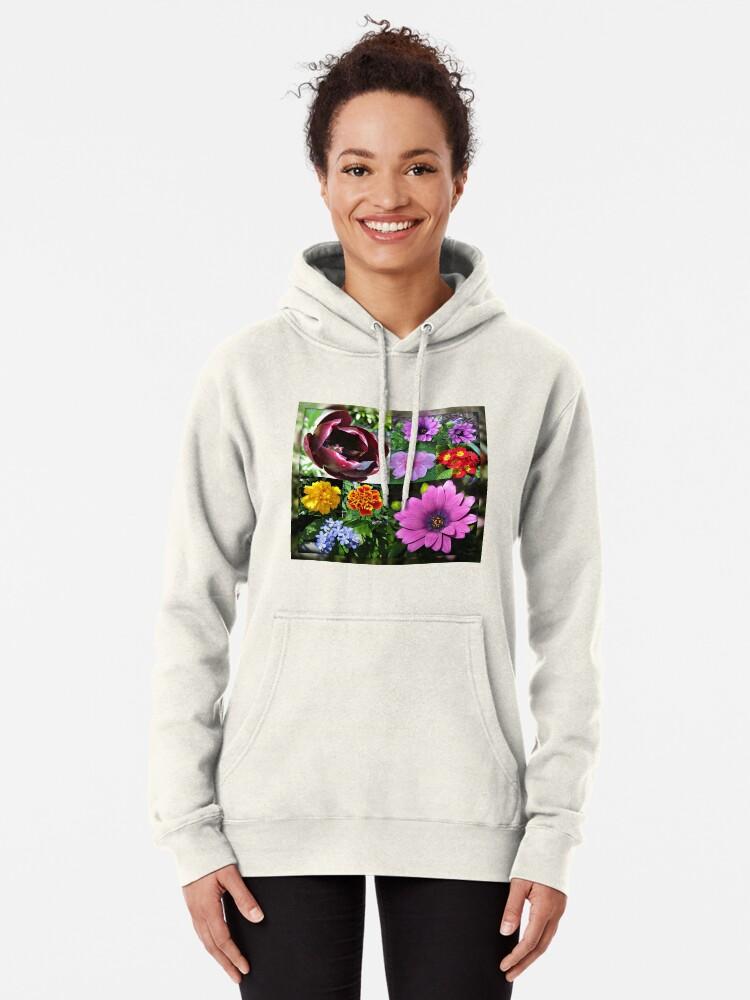 Alternative Ansicht von So lange, Frühling! Hallo, Sommer! Sonnenschein-Blumen-Collagen Hoodie