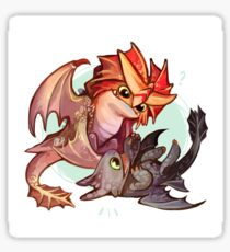 Cloudjumper and Toothless Sticker