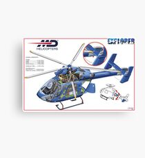 MD Helicopter EXPLORER cutaway Canvas Print
