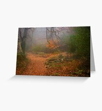 Path of Gold Greeting Card