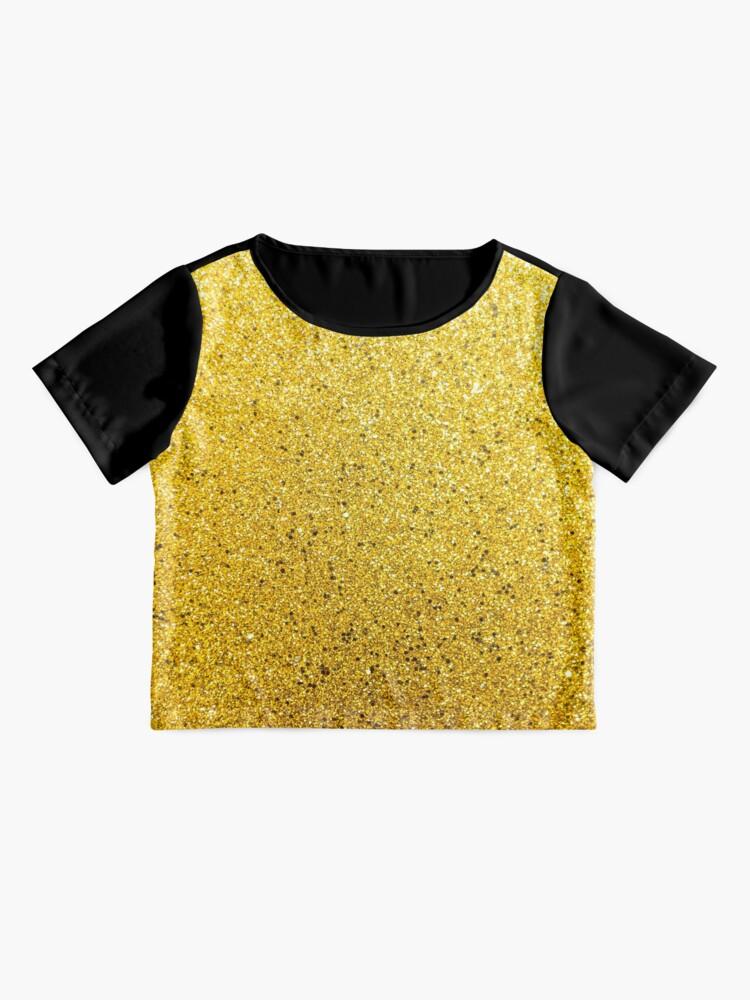 Alternative Ansicht von Sonnenschein Glittery Golden Sparkle Chiffon Top