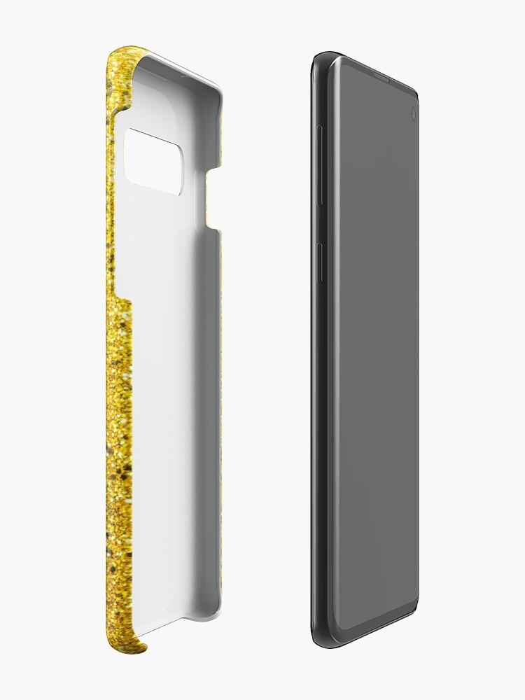 Alternative Ansicht von Sonnenschein Glittery Golden Sparkle Hülle & Klebefolie für Samsung Galaxy