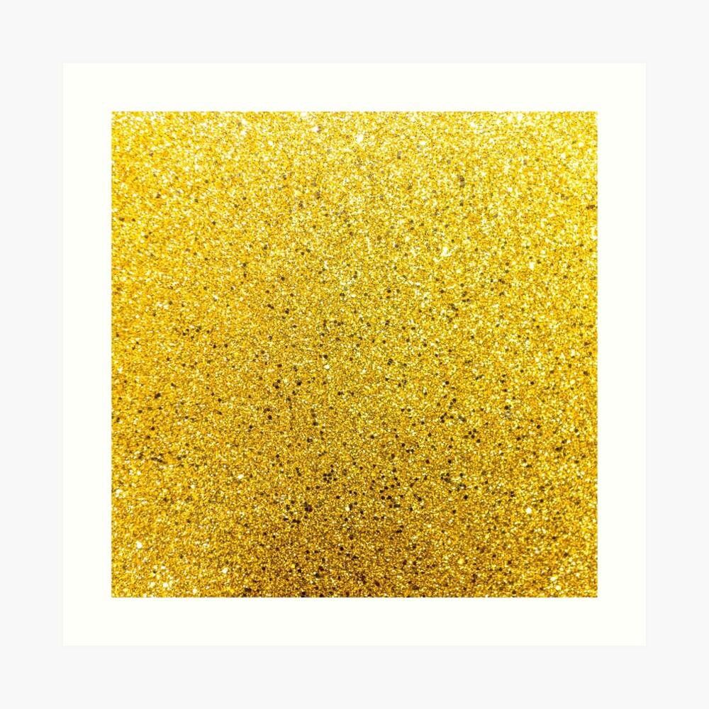 Sonnenschein Glittery Golden Sparkle Kunstdruck