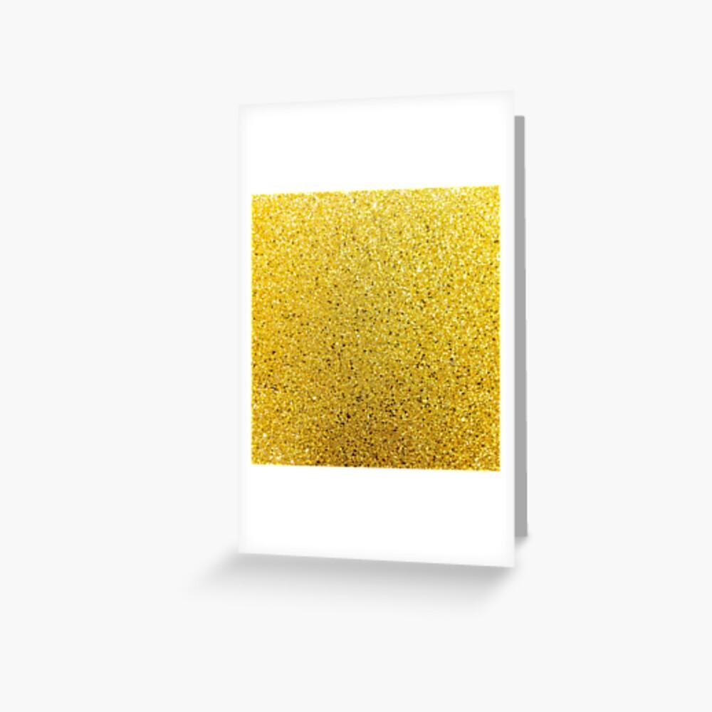 Sonnenschein Glittery Golden Sparkle Grußkarte