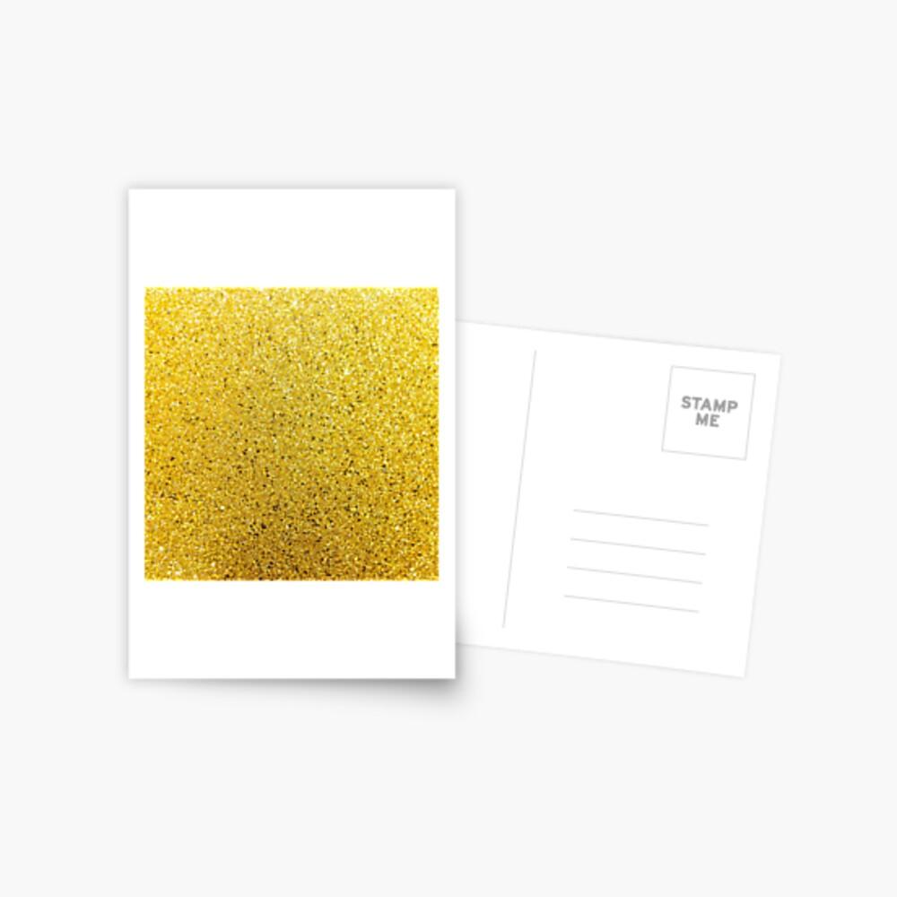 Sonnenschein Glittery Golden Sparkle Postkarte