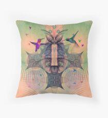 The Hummingbird Dimension Throw Pillow
