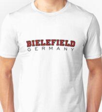 Bielefield Germany Bielefeld Design (Schwarz/Rot) Unisex T-Shirt