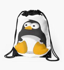 Penguin cartoon drawing Drawstring Bag