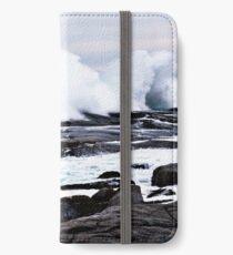 Ferocious Ocean -- Peggy's Cove, Nova Scotia iPhone Wallet/Case/Skin