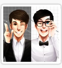 Dan & Phil - Black & White Sticker