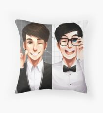 Dan & Phil - Black & White Throw Pillow