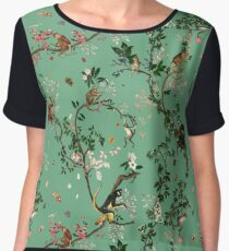 Monkey World Green Women's Chiffon Top