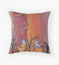 Outback Kangaroos Throw Pillow