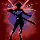 Super Smash Bros. Red Male Corrin Silhouette by jewlecho