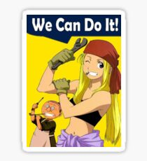 Winry Can Do It Sticker