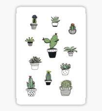 Pegatina Plantas en macetas