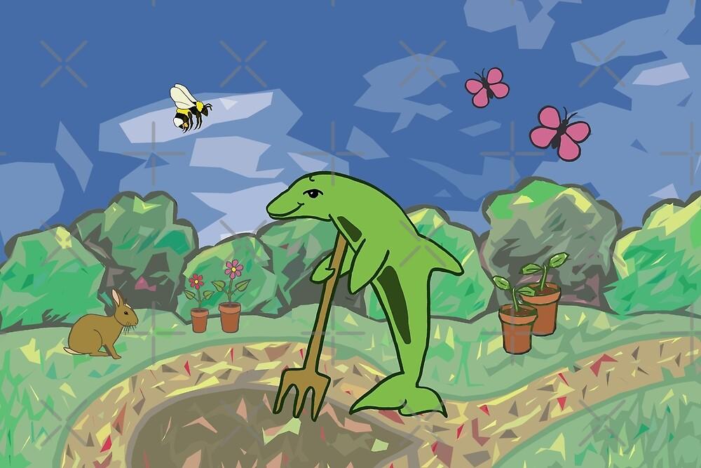Gardening Dolphin by MotiBlack