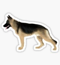 German Shepherd: Tan & Black Sticker