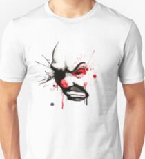 Clown Bank Robber Splatter Unisex T-Shirt
