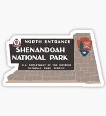 Shenandoah National Park Sign, Virginia, USA Sticker
