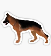 German Shepherd: Red & Black Sticker