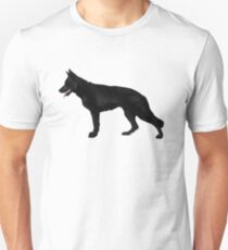 German Shepherd: Black Unisex T-Shirt