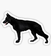 German Shepherd: Black Sticker