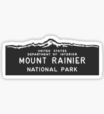 Mount Rainier Nationalpark Zeichen, Washington, USA Sticker
