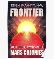 Mars Colonization Propaganda Illustration Poster