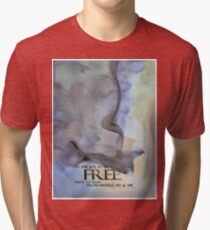 The Awareness STICKER © Vicki Ferrari Tri-blend T-Shirt