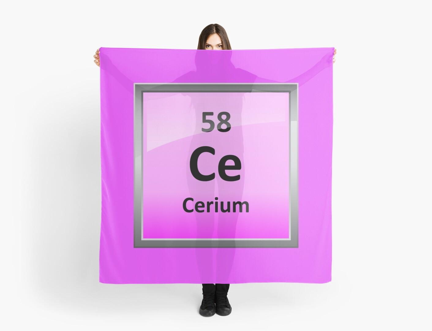 Cerium periodic table element symbol scarves by sciencenotes cerium periodic table element symbol urtaz Images