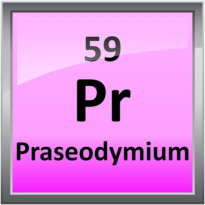 Praseodymium periodic table element symbol canvas prints by praseodymium periodic table element symbol by sciencenotes urtaz Choice Image