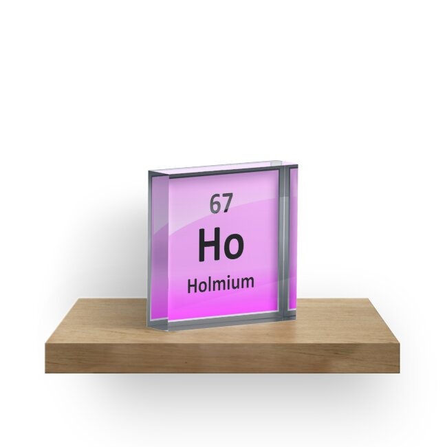 Holmium Or Ho Periodic Table Element Symbol Acrylic Blocks By